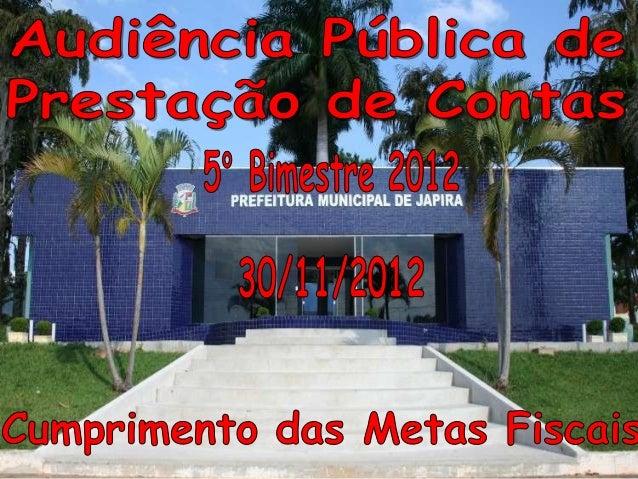 RECEITA ORÇAMENTÁRIA                                  NO BIMESTRE      ATÉ O BIMESTRERECEITA TRIBUTÁRIA                   ...