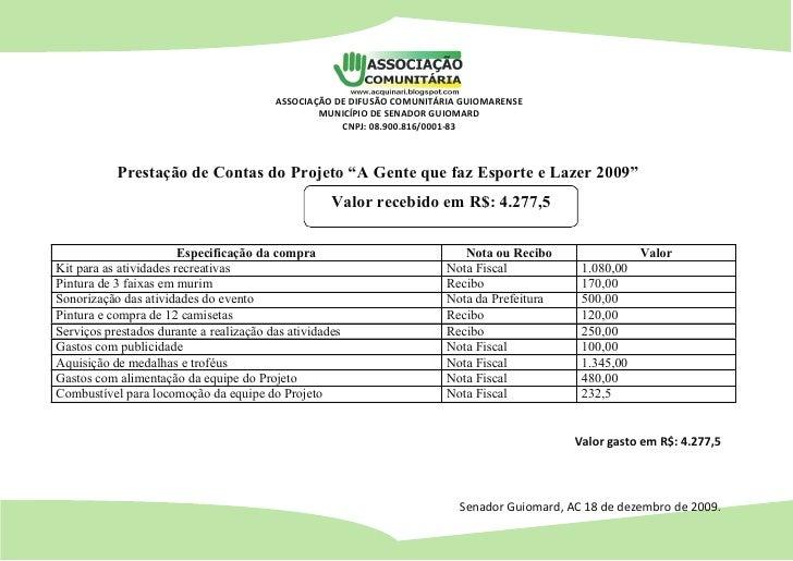 ASSOCIAÇÃO DE DIFUSÃO COMUNITÁRIA GUIOMARENSE                                                  MUNICÍPIO DE SENADOR GUIOMA...