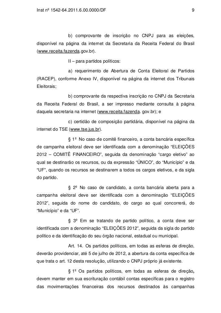 Certidão de composição partidária tse