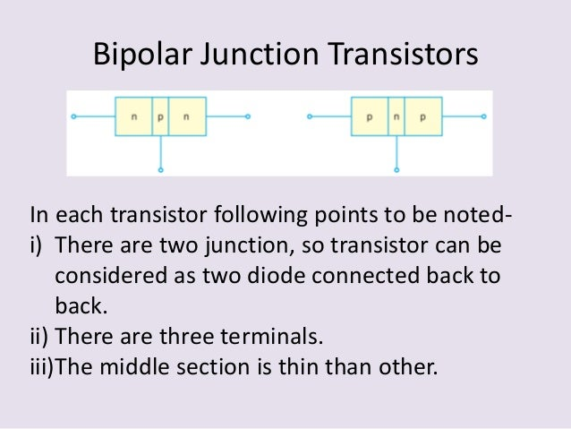 bipolar junction transistors Bipolar-junction (bjt) transistors references: barbow (chapter 7), hayes & horowitz (pp 84-141), rizzoni (chapters 8 & 9) a bipolar junction transistor is formed by.