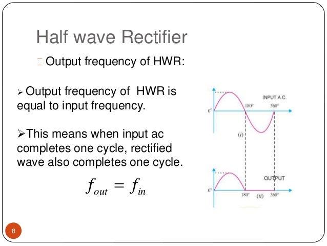 presentation on half and full wave ractifier ppt rh slideshare net Half-Wave Rectifier Diagram Half-Wave Rectifier with Capacitor