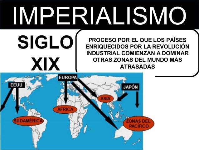 IMPERIALISMO SIGLO XIX  PROCESO POR EL QUE LOS PAÍSES ENRIQUECIDOS POR LA REVOLUCIÓN INDUSTRIAL COMIENZAN A DOMINAR OTRAS ...