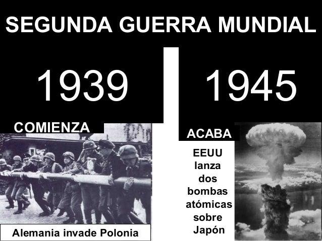 SEGUNDA GUERRA MUNDIAL   1939                     1945COMIENZA                  ACABA                           EEUU      ...