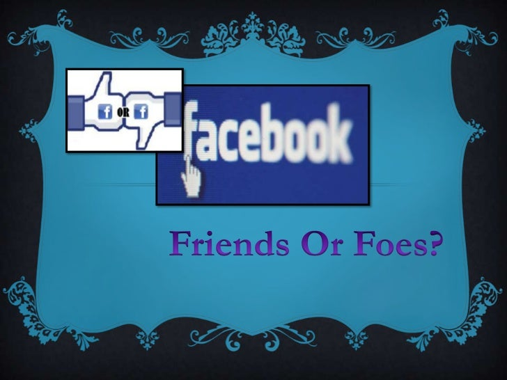  Friends Or Foes is a campaignwhich provides the Students ofCranford Community College to bemore aware of the dangers ofs...
