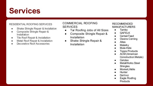 4. Services RESIDENTIAL ROOFING ...  sc 1 st  SlideShare & Prestige roofing contractors memphite.com