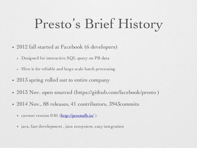 Facebook Presto presentation Slide 2