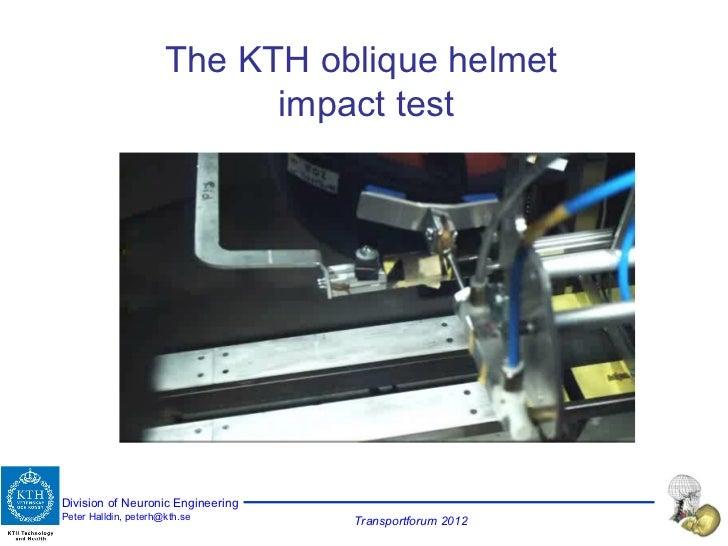 The KTH oblique helmet  impact test