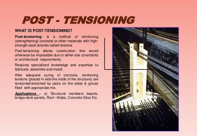 Post Tensioning Bar : Prestressed concrete