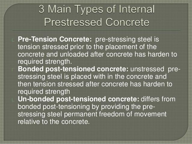 Bonded Post Tensioning : Prestressed concrete