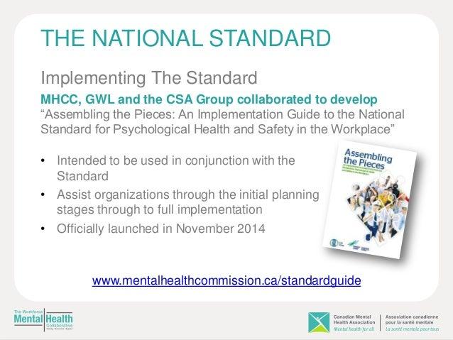 national mental health standards implementation guidelines