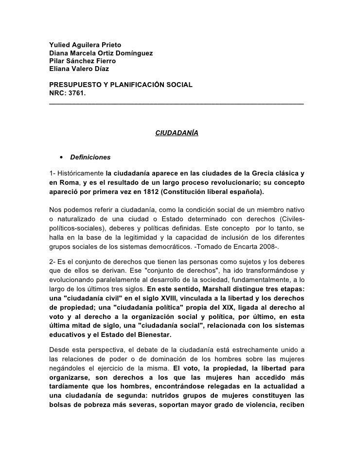 Yulied Aguilera Prieto Diana Marcela Ortiz Domínguez Pilar Sánchez Fierro Eliana Valero Díaz  PRESUPUESTO Y PLANIFICACIÓN ...