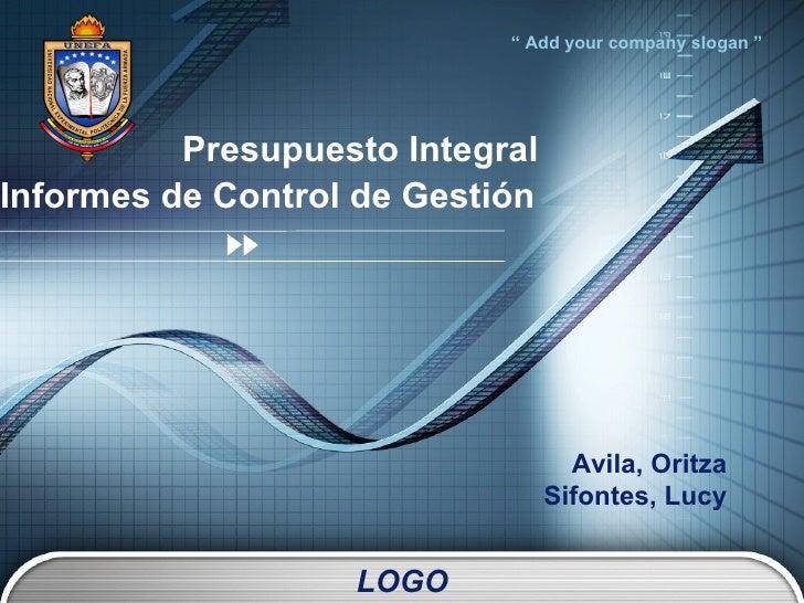 Presupuesto Integral Informes de Control de Gestión   Avila, Oritza Sifontes, Lucy