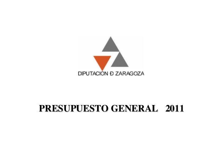 PRESUPUESTO GENERAL 2011