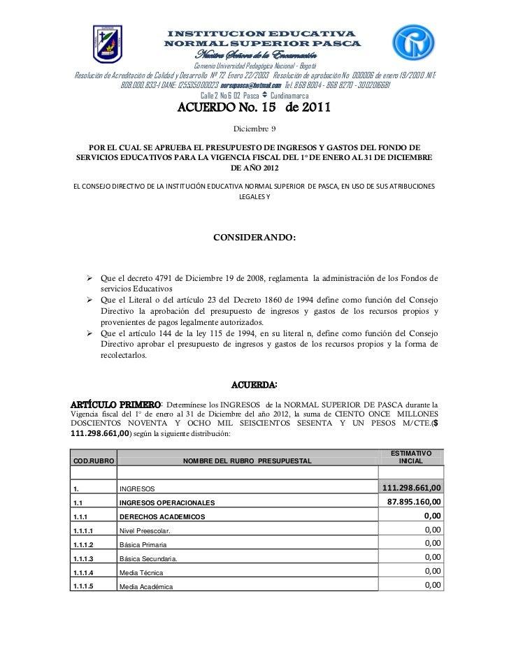 INSTITUCION EDUCATIVA                                NORMAL SUPERIOR PASCA                                          Nuestr...