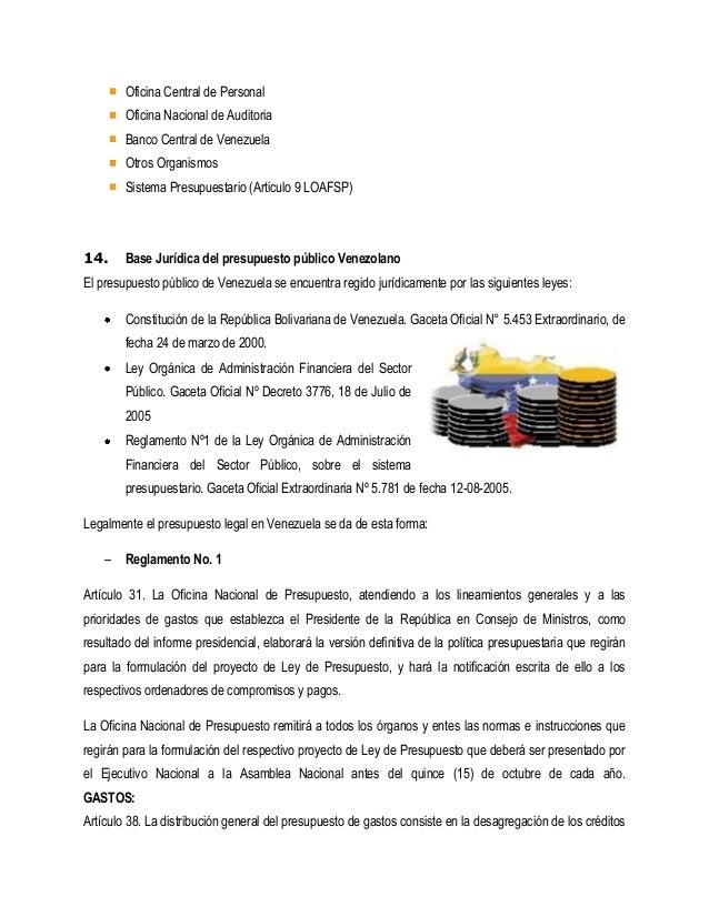 Presupuesto del sector publico for Oficina del banco de venezuela