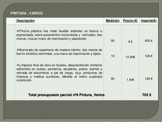 Presupuesto de obra local2 - Presupuestos de obras ...