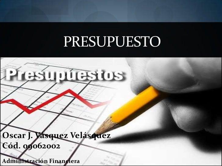 presupuesto diapositivas