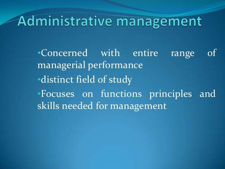 Presurcors of management