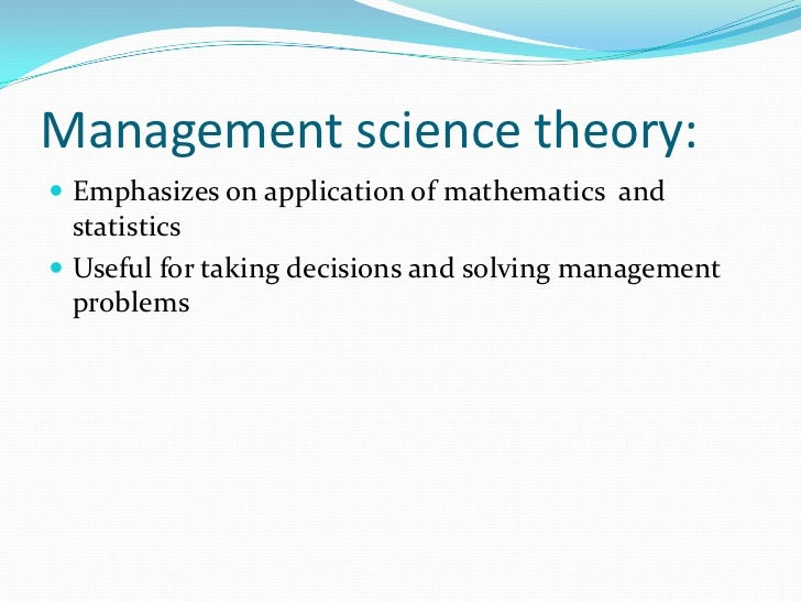 the scope and role of linear programming in solving management problems Linear programming is most suitable for solving complex problems helps in simplicity and productive management of an organization which gives better outcomes improves quality of decision: a better quality can be obtained with the system by making use of linear programming.