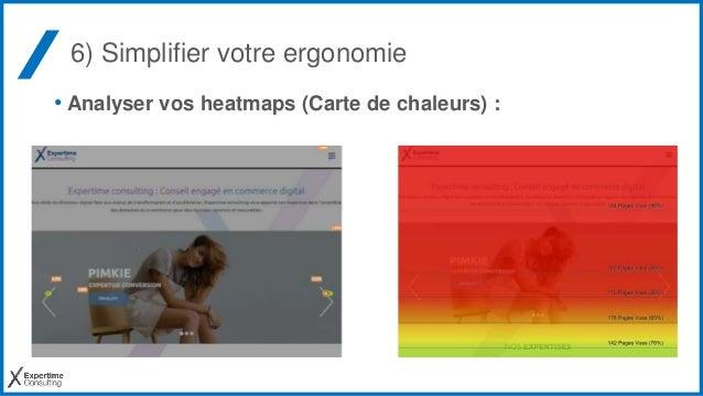 6) Simplifier votre ergonomie • Analyser vos heatmaps (Carte de chaleurs) :