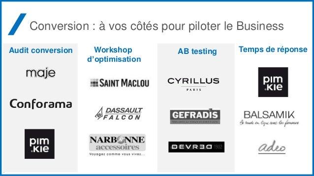 4 Conversion : à vos côtés pour piloter le Business AB testingAudit conversion Temps de réponseWorkshop d'optimisation