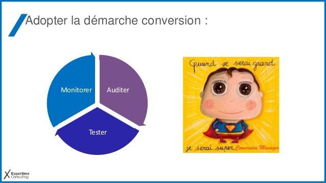 Adopter la démarche conversion : Auditer Tester Monitorer