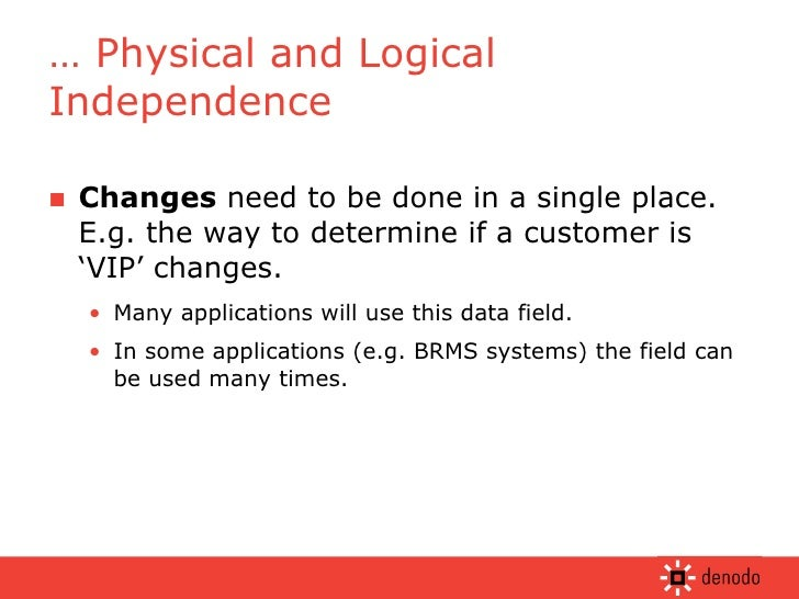 <ul><li>Changes  need to be done in a single place. E.g. the way to determine if a customer is 'VIP' changes. </li></ul><u...