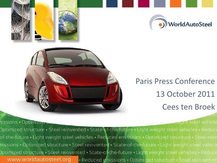 Paris Press Conference 13 October 2011 Cees ten Broek