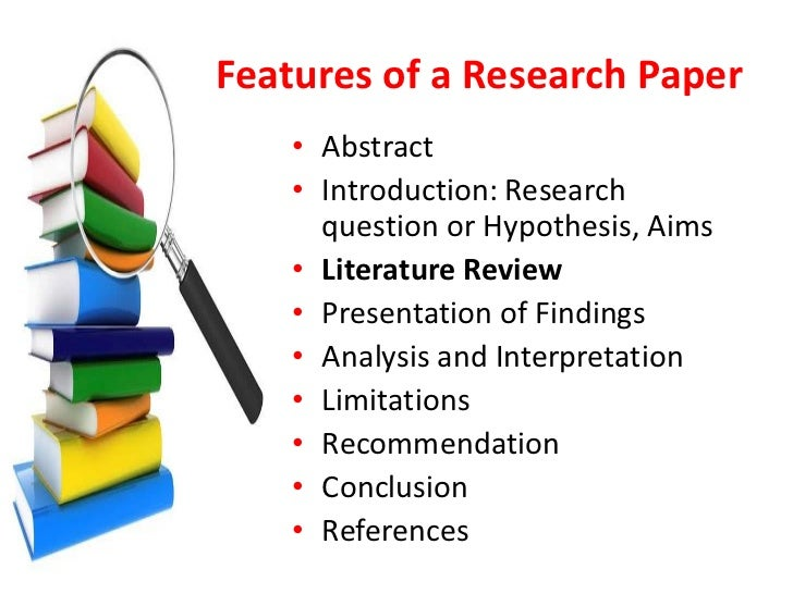 Sources of literature review in communication research paper