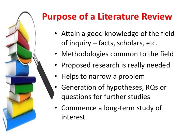 What is the purpose of a literature review paper