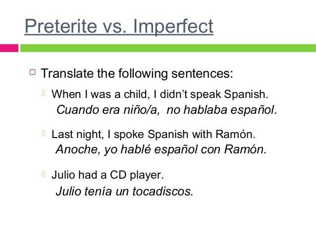 preterite vs imperfect Enomwarbco – Preterite Vs Imperfect Worksheet