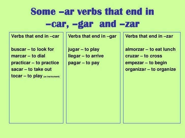 Preterite verbs