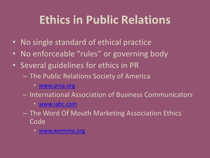 ethics public relations essay ′an intelligent book about serious issues in public relations: accountability, responsibility, transparency, loyalty, truthtelling, and fairness it should be.