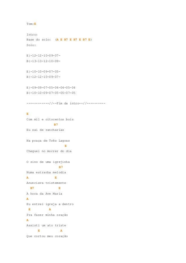 Tom:EIntro:Base do solo:        (A E B7 E B7 E B7 E)Solo:E|-12-12-10-09-07-B|-13-13-12-10-09-E|-10-10-09-07-05-B|-12-12-10...