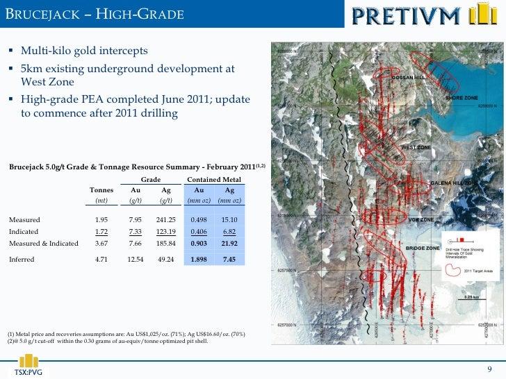 BRUCEJACK – HIGH-GRADE Multi-kilo gold intercepts 5km existing underground development at  West Zone High-grade PEA com...