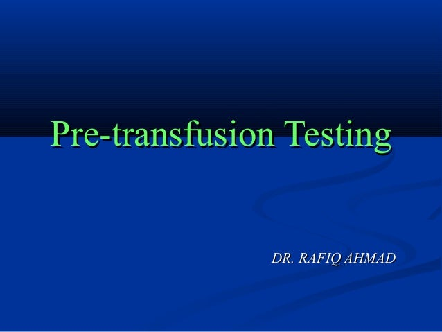 Clinical Guide to Transfusion