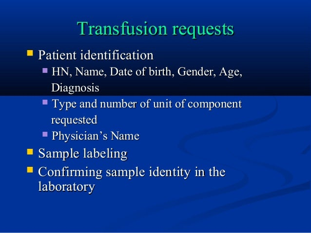 pre transfusion blood tests Before a blood transfusion is given, there are many steps taken to ensure quality of the blood products, compatibility, and safety to the recipient  whenever possible, the aabb recommends that o negative blood be conserved by using blood type testing to identify a less scarce alternative religious objections.