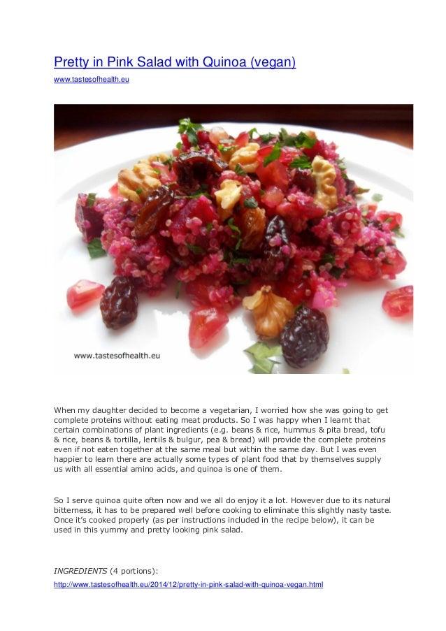 http://www.tastesofhealth.eu/2014/12/pretty-in-pink-salad-with-quinoa-vegan.html Pretty in Pink Salad with Quinoa (vegan) ...