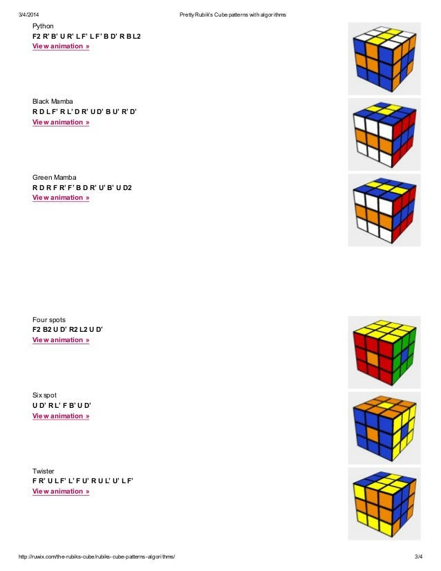 how to solve rubix cube with algorithms