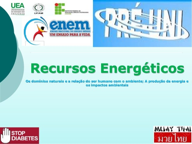 Recursos Energéticos Os domínios naturais e a relação do ser humano com o ambiente; A produção da energia e os impactos am...