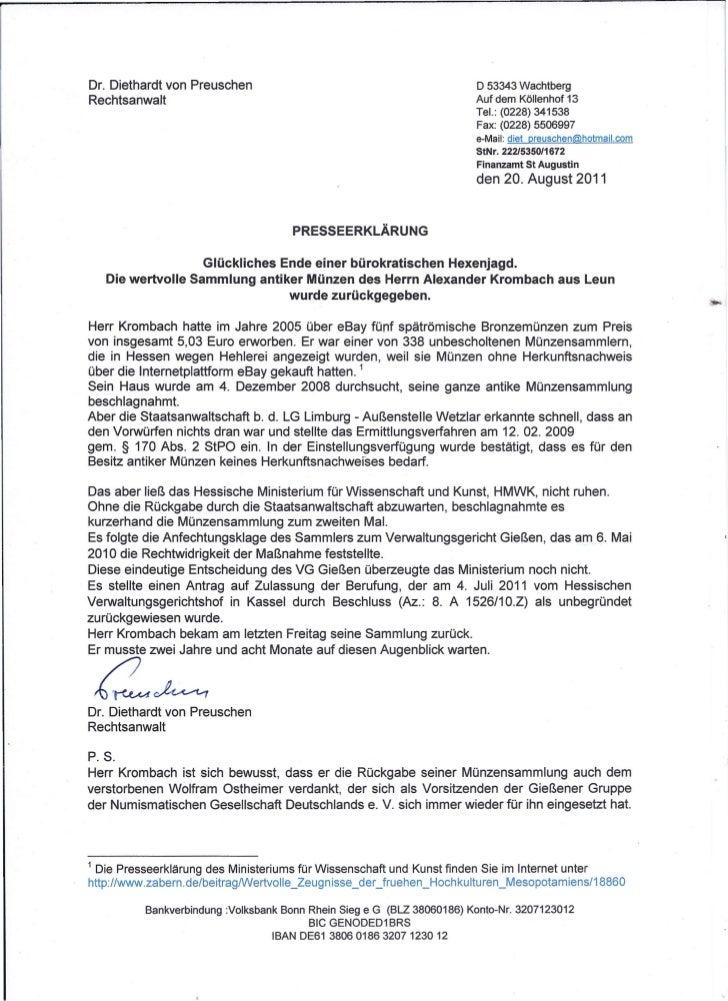 Dr. Diethardt von Preuschen                                                D 53343 WachtbergRechtsanwalt                  ...
