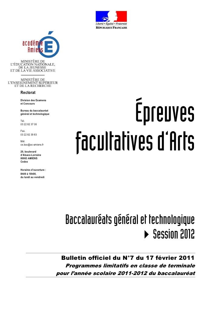 RectoratDivision des Examens                                           Épreuveset ConcoursBureau du baccalauréatgénéral et...