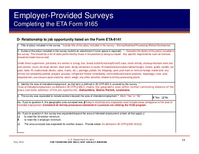 H-2B TEMPORARY LABOR CERTIFICATION PROGRAM PREVAILING WAGE PROCESS AN…