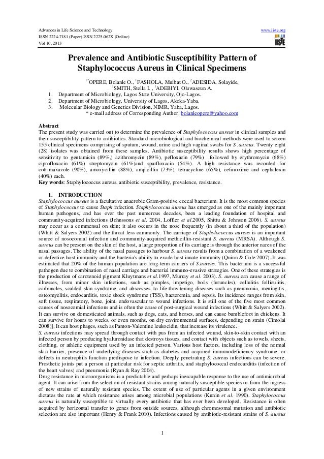 Advances in Life Science and Technology www.iiste.org ISSN 2224-7181 (Paper) ISSN 2225-062X (Online) Vol 10, 2013 1 Preval...