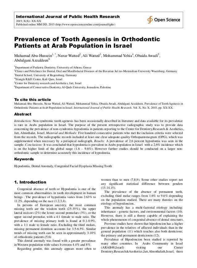 International Journal of Public Health Research 2015; X(X): XX-XX Published online MM DD, 2015 (http://www.openscienceonli...