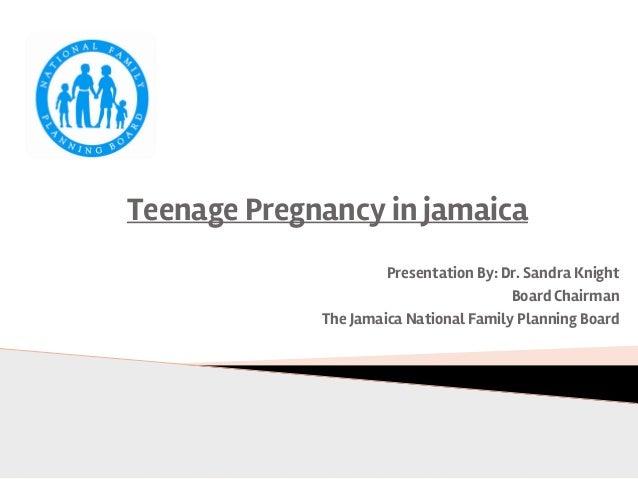 Prevención del Primer y Segundo Embarazo Adolescente en Jamaica. Dra. Sandra Knight, Consejo Nacional de Planificación Fam...