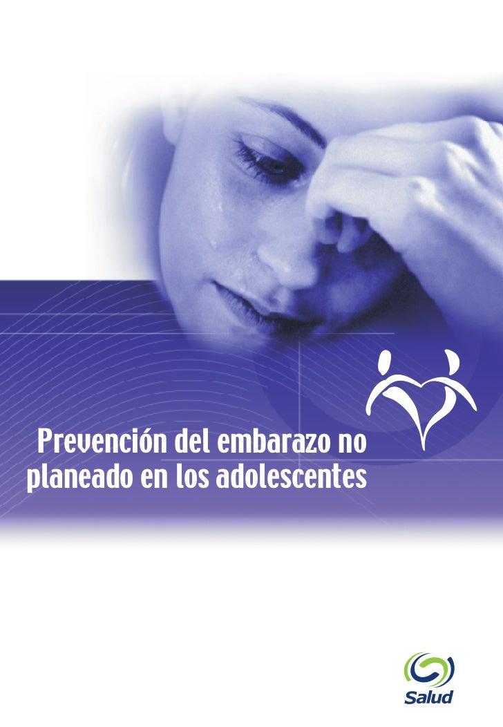 Prevención del embarazo no                   planeado en los adolescenteswww.salud.gob.mx