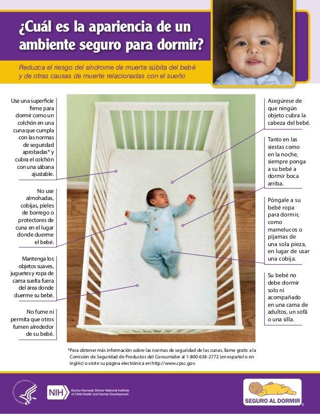 ¿Cuál es la apariencia de un ambiente seguro para dormir? Reduzca el riesgo del síndrome de muerte súbita del bebé y de ot...