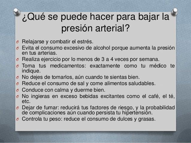 Prevención y promoción de la salud hipertension arterial