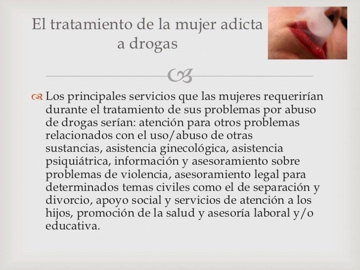 Prevención y tratamiento de adicciones en la (mujer)